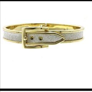 Shimmery Hinged Belt Bracelet